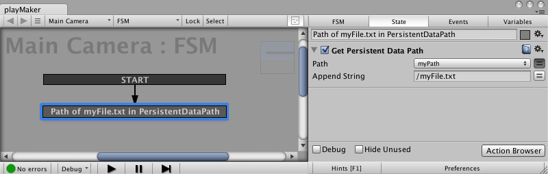 Get Persistent Data Path Action for Easy Save