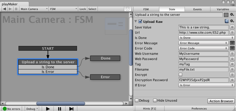 Upload Raw String Action for Easy Save