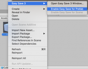 Enable Easy Save For Prefab
